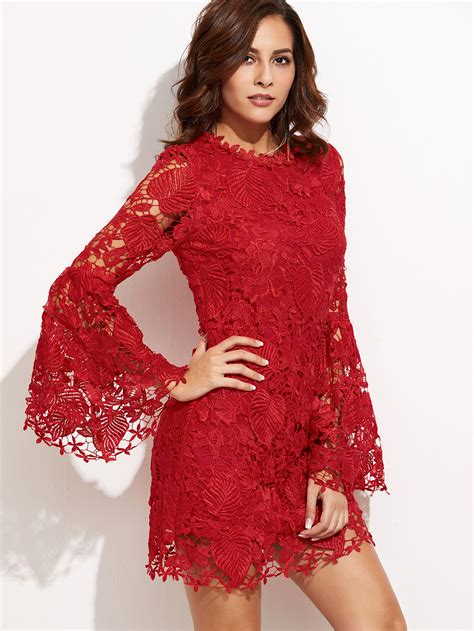 Sabrina Bodycon Dress Merah 1157 adorable bell sleeve lace dress comeback in fashion
