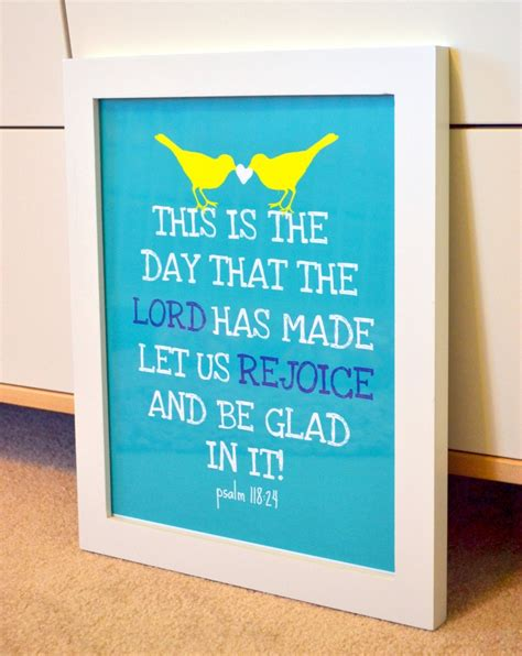 Bible Verses For Baby Shower by Bible Verse 11 X 14 Print This Is The Day That The Lord