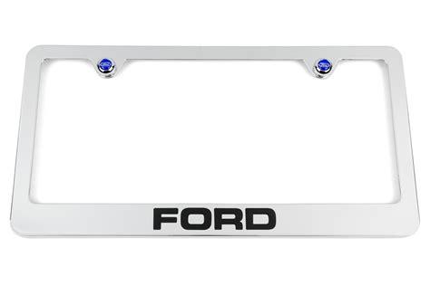 ford chrome license plate frame