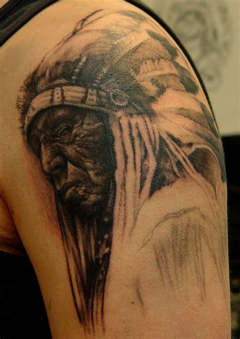 native american skull tattoos indian chief skull meaning indian tattoos on