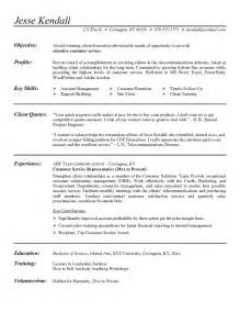 Objective For A Customer Service Resume by Customer Service Representative Resume Objective Exles Sle Resume Center