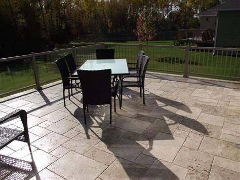 patio paver installation cost travertine pavers cost installation price