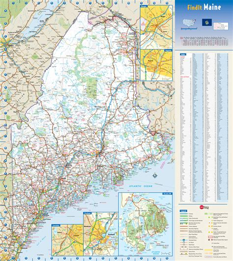 detailed map of maine large detailed roads and highways map of maine state with