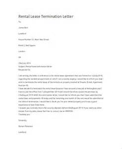 Rental Lease Termination Letter by Sle Termination Letter 9 Exles In Word Pdf