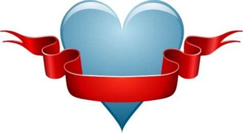 Webe Pita Biru jantung pita clip vektor clip vektor gratis
