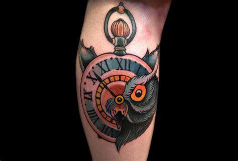 tattoo old school geometric tatuagem bra 231 o rel 243 gio old school coruja por artwork rebels