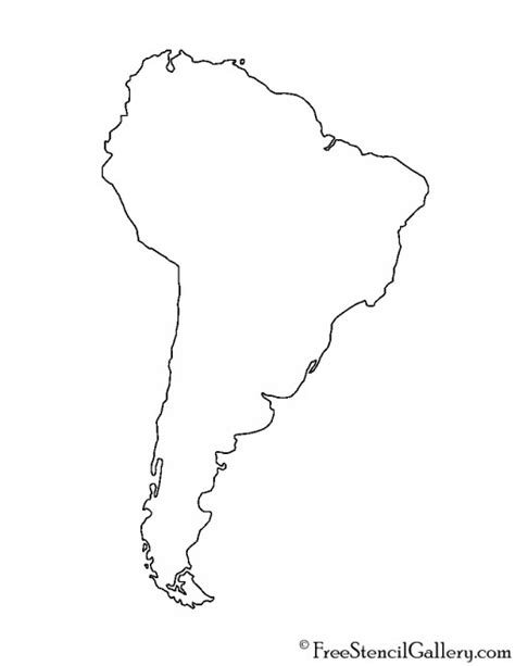 South And America Map Outline by South America Stencil Free Stencil Gallery