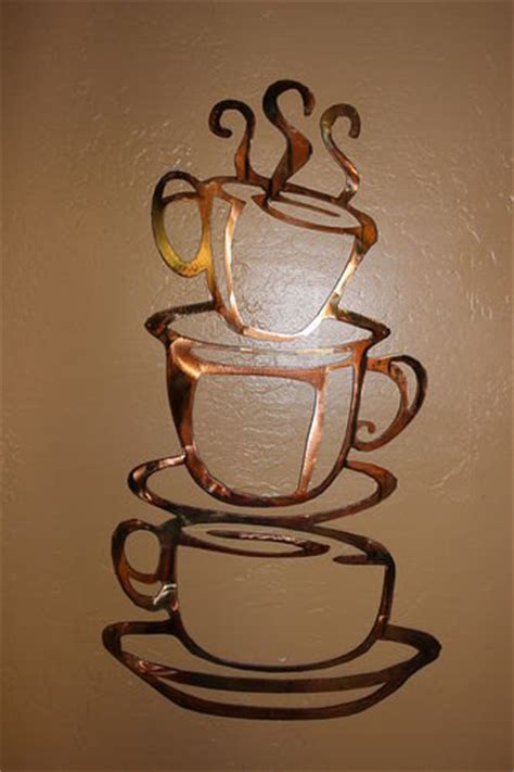 Coffee Cup Wall Decor by Coffee Cups Lg 24 Kitchen Home Decor By Heavensgatemetalwork
