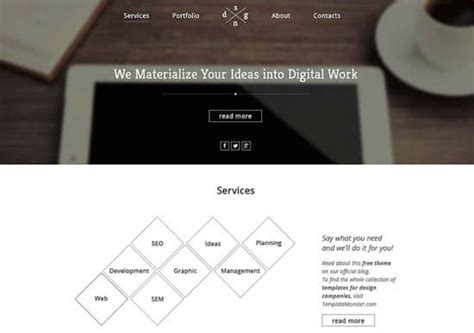 Free Html5 Business Card Template by 60 Free Responsive Html5 Css3 Website Templates