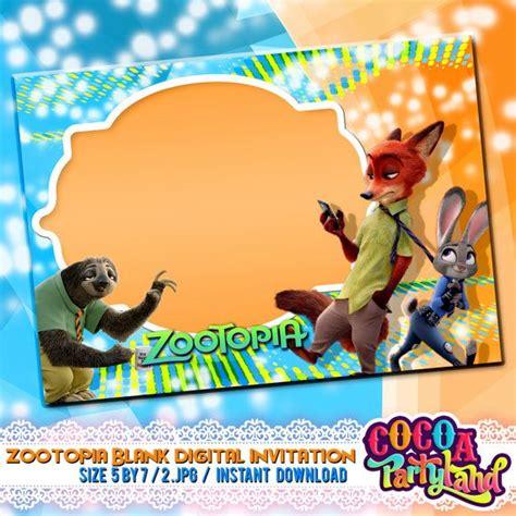 printable zootopia invitations zootopia blank invitation blank invitation invitation