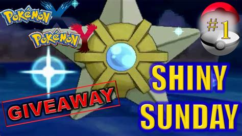 Pokemon Xy Giveaway - pokemon x y shiny staryu fishing chain giveaway youtube