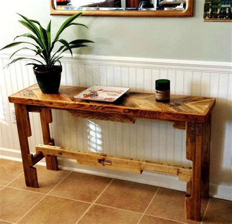 diy sofa table ideas diy chevron top pallet sofa side table pallet furniture