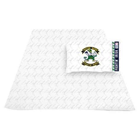 notre dame bedding notre dame fighting irish locker room sheet set