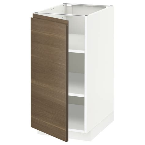ikea kitchen base cabinet metod base cabinet with shelves white voxtorp walnut 40x60