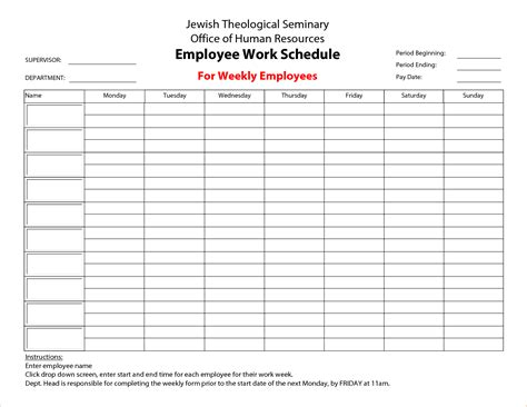 3 Printable Work Schedule Ganttchart Template Sheets Work Schedule Template