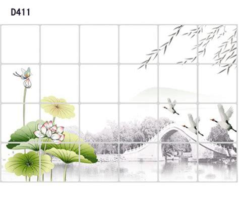 Stiker Dapur Almuniumfoil 1 1pcs 60x90cm ink lotus diy korea water proof wall stickers