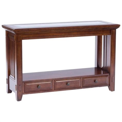 broyhill sofa tables broyhill vantana sofa table in golden brown 4986 009