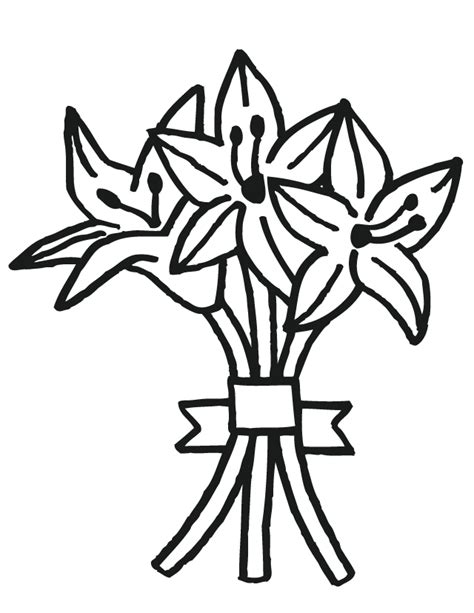 printable wedding flowers bouquet coloring pages printable coloring pages