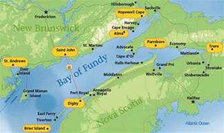 logistics airports weather etc bay of fundy
