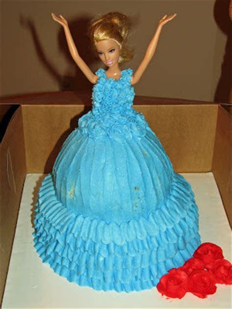 comelnyercupcake barbie doll cakes princess hannah little worth while moments february 2012