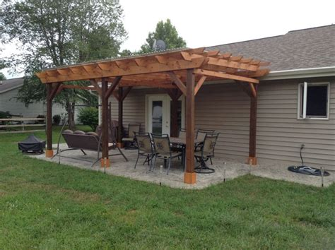 covered pergola plans  build diy  patio wood