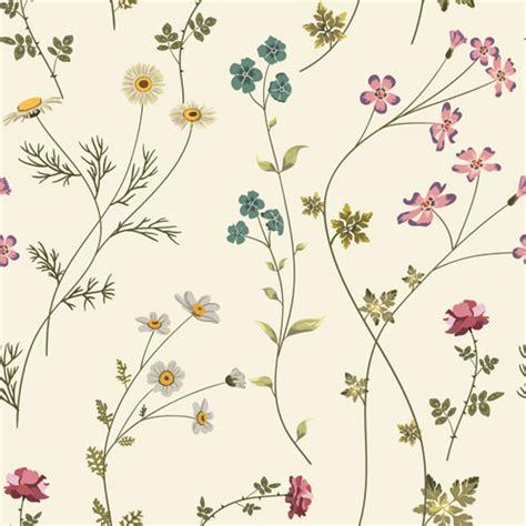 flower design materials elegant floral pattern vector material set 02 vector