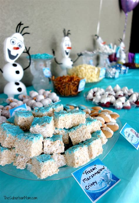 frozen birthday party decorations food games printables
