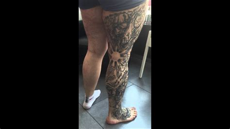 full leg tattoos leg