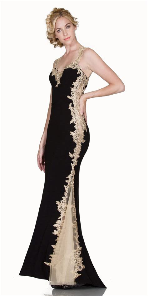 black and gold floor l l6419 sheath mermaid silhouette gown red gold floor