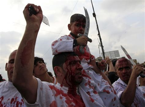 shi a muslims mark ashura in iraq with self flagellation