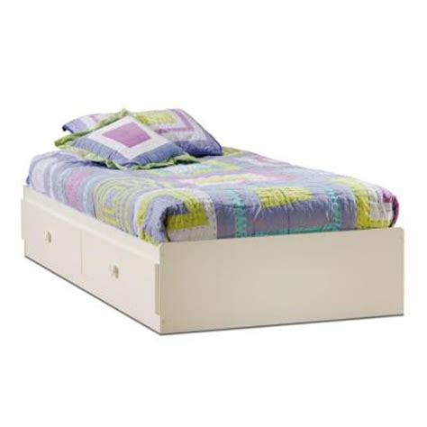 Home Depot Bed Storage by South Shore Sand Castle Storage Bed In White