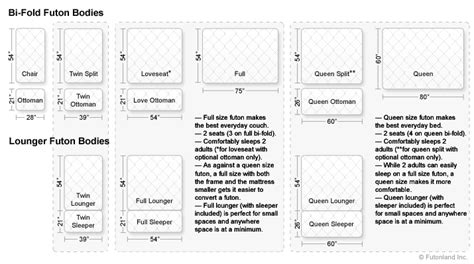 Standard Futon Length by Standard Futon Mattress Size Bm Furnititure