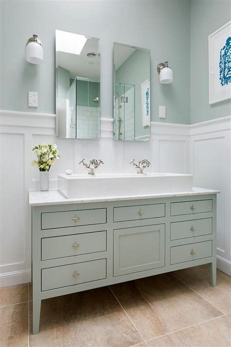 White And Green Bathroom Ideas Transitional Bathroom White And Green Bathroom Ideas