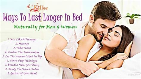 last longer in bed naturally 16 killer ways to last longer in bed naturally for men women