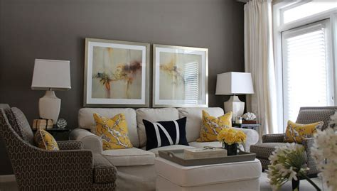 contemporary decor living room gray and yellow just
