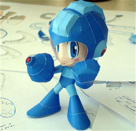 Megaman Papercraft - megaman papercraft powered up version paperkraft net
