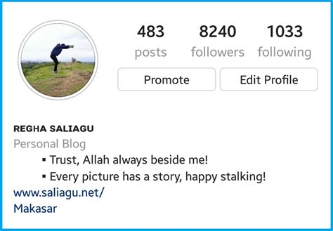 contoh membuat biography mau tilan instagram kamu rapi dan banjir follower