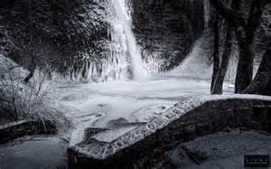 Cheap Wall Murals Wallpaper waterfall bw winter snow wallpaper 1920x1200 197350