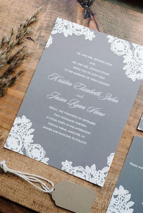 grey and white wedding invitations uk 30 timeless grey and white fall wedding ideas deer pearl flowers