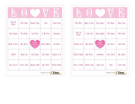 conversation hearts bingo cards template conversation b i n g o free bingo