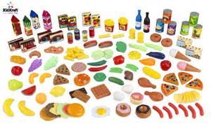 kidkraft play food set 125 pc 63187