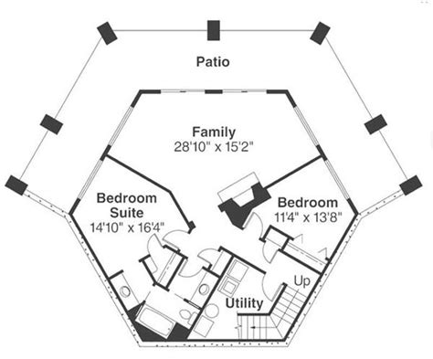 hexagon floor plans hexagonal house plans one story pictures to pin on