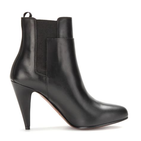boots leather lyst balenciaga leather ankle boots in black
