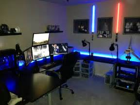 Pc Gaming Desk Setup Cool Computer Setups And Gaming Setups
