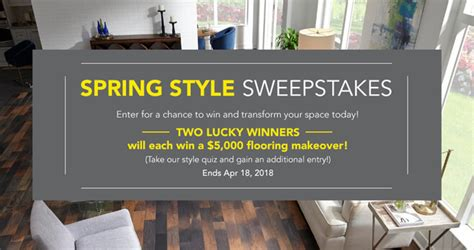 Who Won The Lumber Liquidators Sweepstakes - lumber liquidators spring style sweepstakes 2018