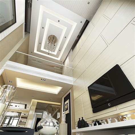 Ceiling Max Parts - luxurious high ceiling house interior photoreal 3d model
