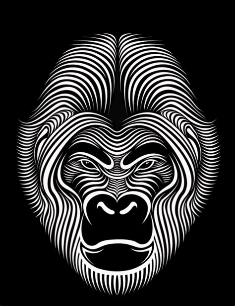 Line Arts hypnotic line faces by seymour