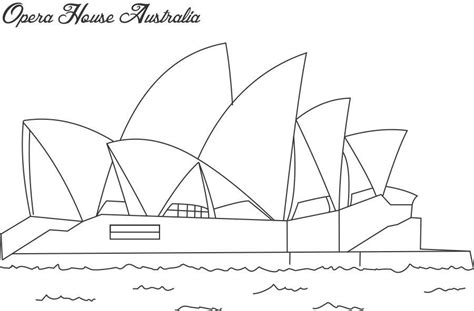 Coloring Page Of Sydney Opera House   opera house sydney coloring page for kids
