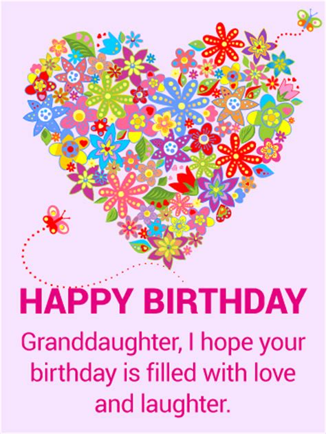 imagenes happy birthday granddaughter for my beautiful granddaughter happy birthday card