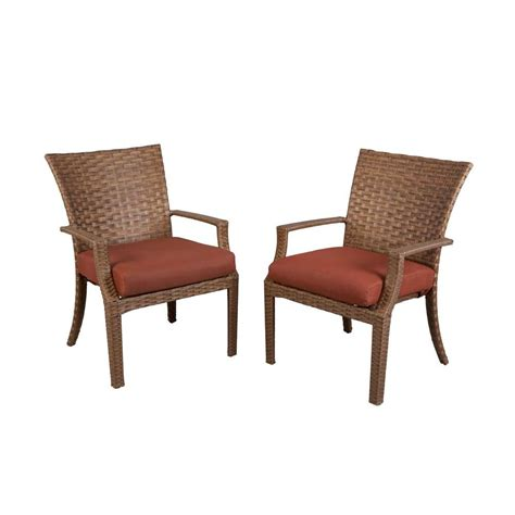 Hampton Bay Patio Chairs by Hampton Bay Tobago Patio Dining Chair With Burgundy